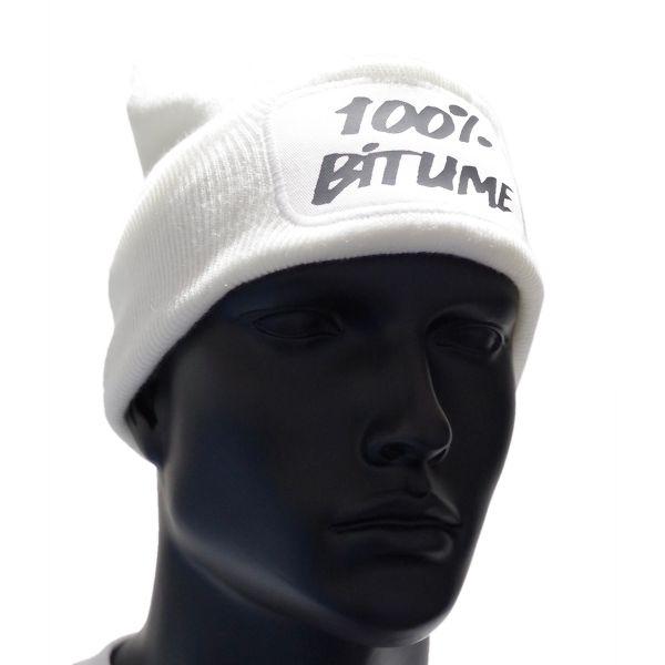Bonnet Moto 100% Bitume Beanie White