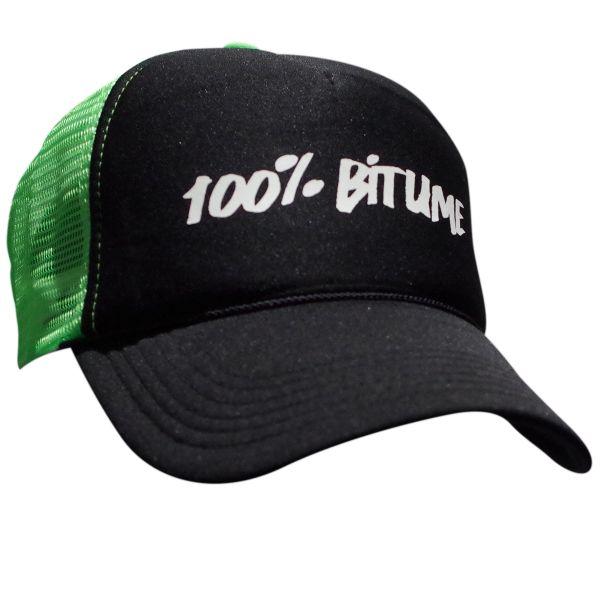 Casquettes Moto 100% Bitume Cap Asphalt Black Fluo Green
