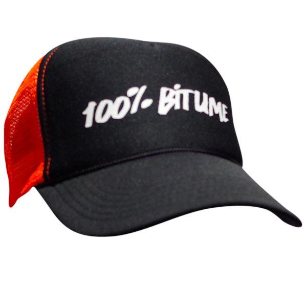 Casquette 100 bitume cap asphalt black fluo orange au meilleur prix - Boutique 100 bitume ...