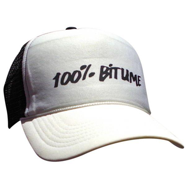 Casquettes Moto 100% Bitume Cap Asphalt Black White