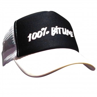 Casquettes Moto 100% Bitume Cap Asphalt White Black