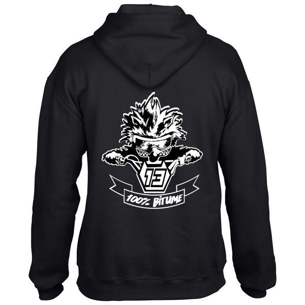 Pull 100 bitume hoodie asphalt black en stock - Boutique 100 bitume ...
