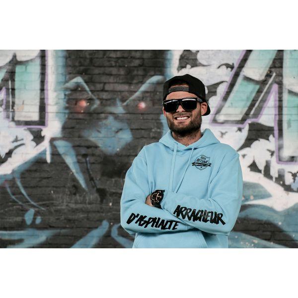 Pull 100 bitume hoodie asphalt blue au meilleur prix - Boutique 100 bitume ...