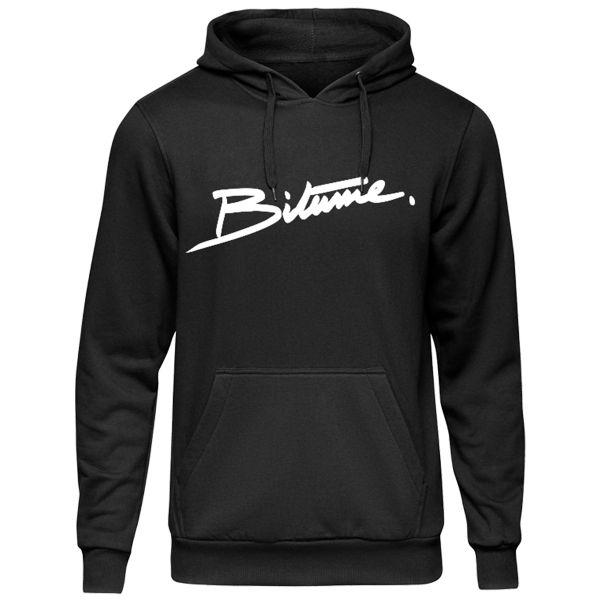 Pulls Moto 100% Bitume Hoodie Signature Big Black