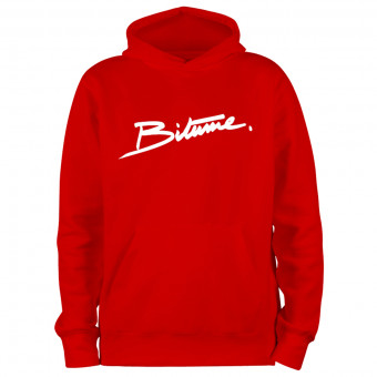 Pulls Moto 100% Bitume Hoodie Signature Big Red