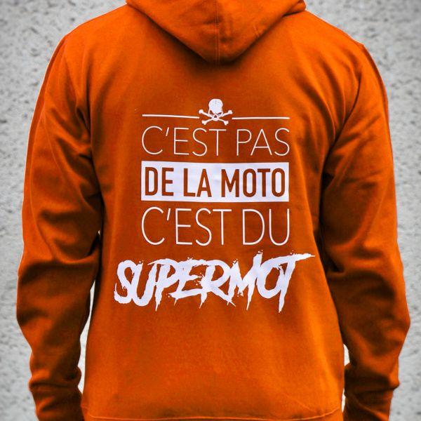 Pulls Moto Kikaninac Hoodie Supermot Orange