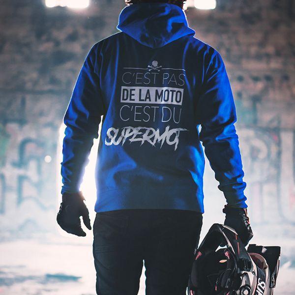 Kikaninac Sweat Hoodie Supermot Bleu