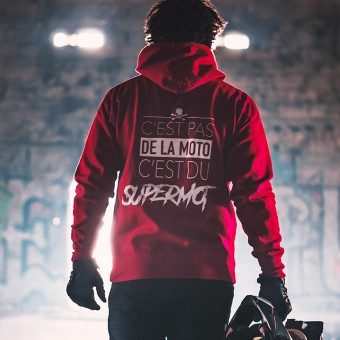 Pulls Moto Kikaninac Sweat Hoodie Supermot Rouge