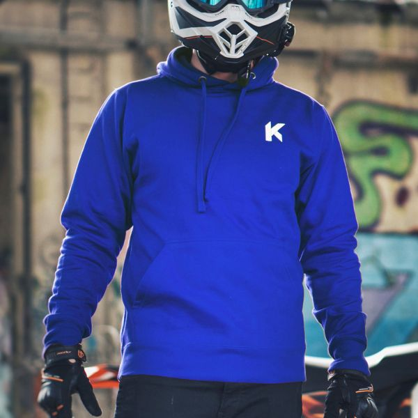 Kikaninac Sweat Hoodie Supermot Skull Bleu
