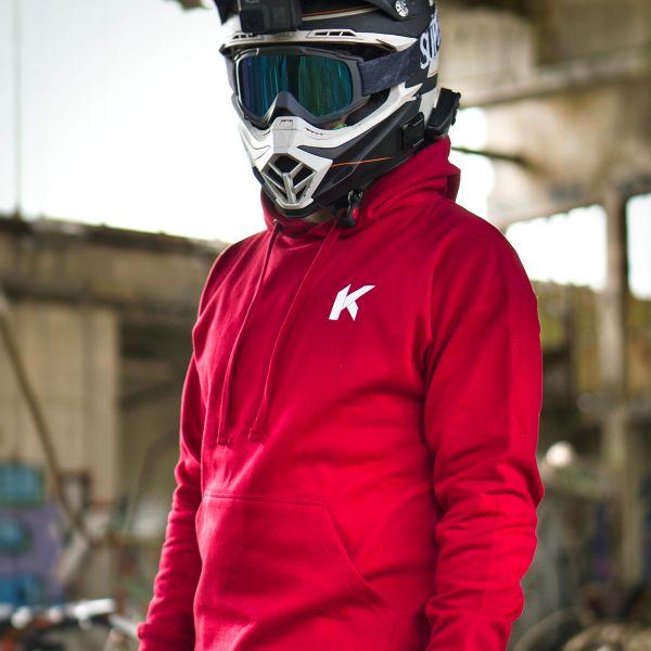 Kikaninac Sweat Hoodie Supermot Skull Rouge