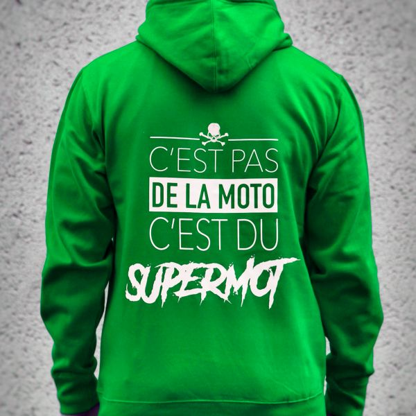 Pulls Moto Kikaninac Sweat Hoodie Supermot Vert