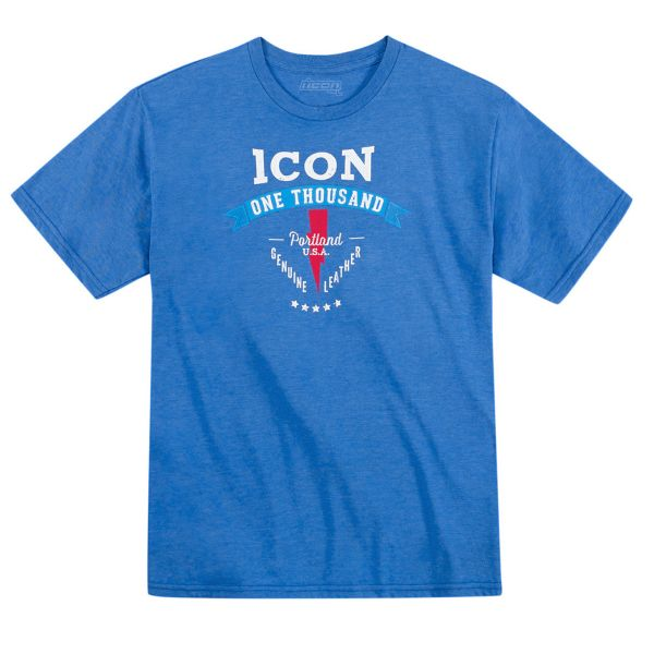 T-Shirts Moto ICON 1000 Two Timer Heather Blue