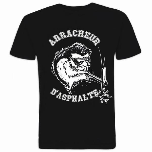T shirt 100 bitume arracheur d 39 asphalte noir au meilleur prix - Boutique 100 bitume ...