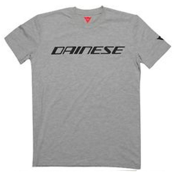 T-Shirts Moto Dainese Dainese T-Shirt Grey Melange Black