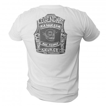 T-Shirts Moto iCasque Legendary Cut White