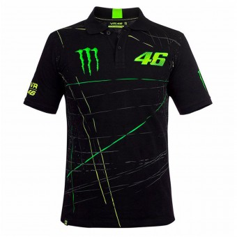 T-Shirts Moto VR 46 Polo Monster DBTC Black
