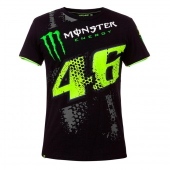 T-Shirts Moto VR 46 T-Shirt Replica DTBC Monster Black VR46