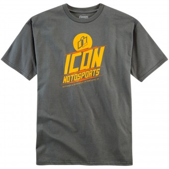 T-Shirts Moto ICON Charged Tee Charcoal