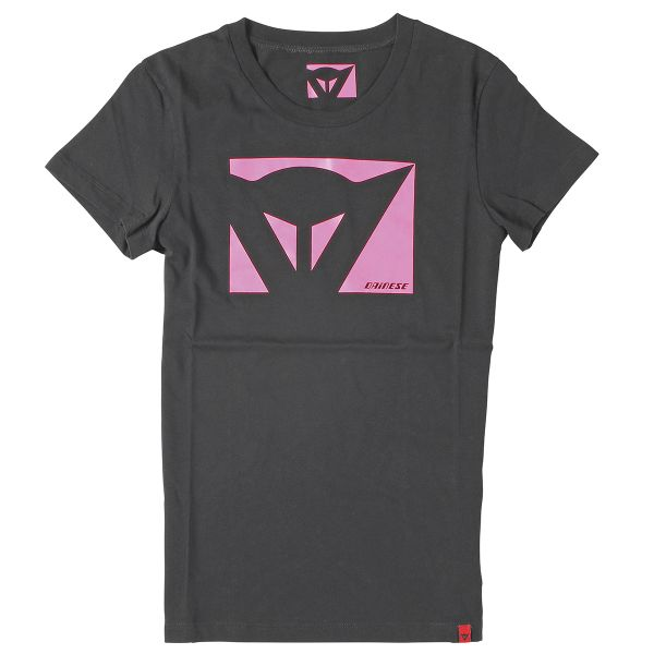 T-Shirts Moto Dainese Color New Lady Black Fuchsia