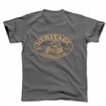 T-Shirts Moto HARISSON Heritage Gris