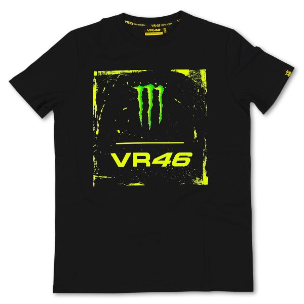 T-Shirts Moto VR 46 Monster Black VR46