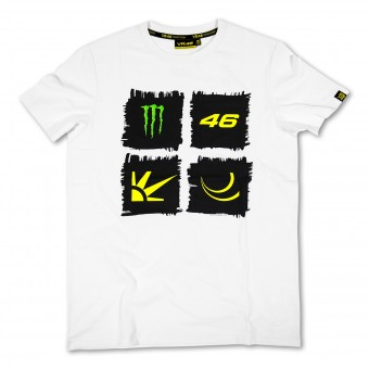 T-Shirts Moto VR 46 Monster White VR46