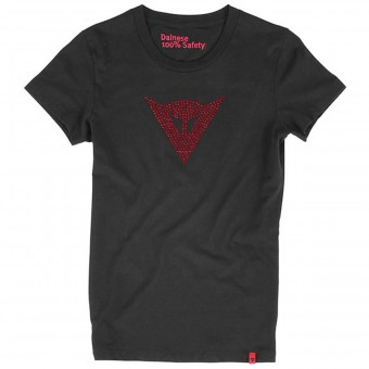 T-Shirts Moto Dainese Shine Logo Lady Black