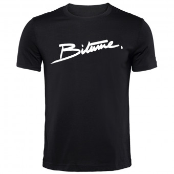 T-Shirts Moto 100% Bitume Signature Big Black
