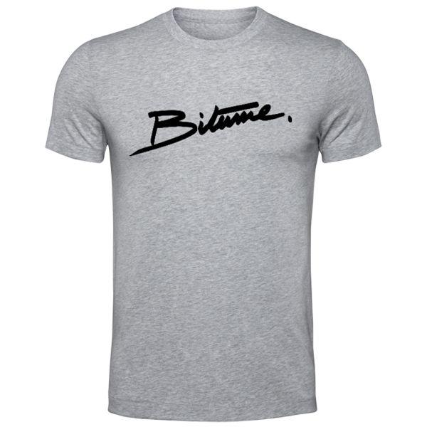 T-Shirts Moto 100% Bitume Signature Big Grey
