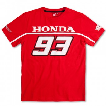 T-Shirts Moto Marquez 93 T-Shirt Basic Honda Red MM93