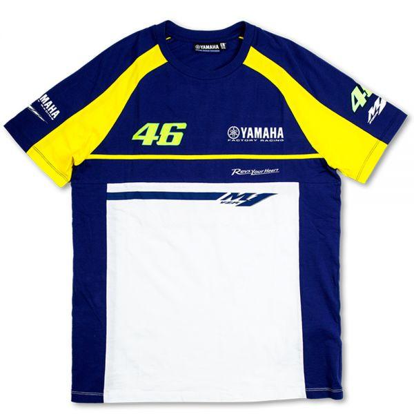 T-Shirts Moto VR 46 T-Shirt Blue Royal Yamaha VR46