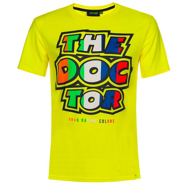 T-Shirts Moto VR 46 T-Shirt Classic Stripes Yellow