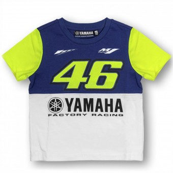 T-Shirts Moto VR 46 T-Shirt Junior Yamaha Blue VR46