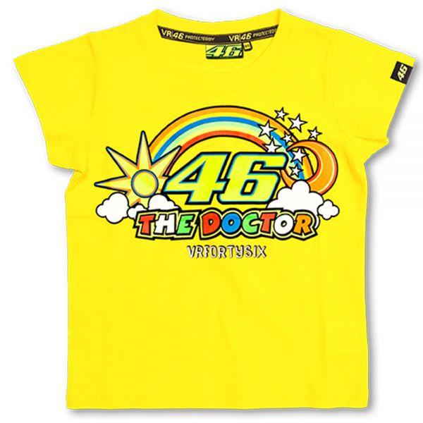 T-Shirts Moto VR 46 T-Shirt Kid Yellow VR46