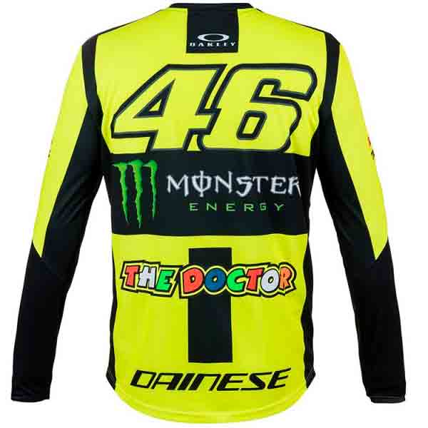 VR 46 T-Shirt Manches Longues Monster VR46 Jaune Fluo