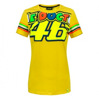 T-Shirts Moto VR 46 T-Shirt Stripes Lady VR46