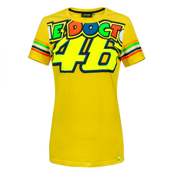 T-Shirts Moto VR 46 T-Shirt Stripes Lady VR46
