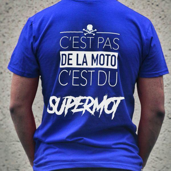 T-Shirts Moto Kikaninac T-Shirt Supermot Bleu