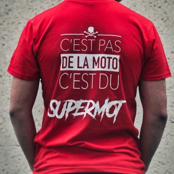 T-Shirts Moto Kikaninac T-Shirt Supermot Rouge