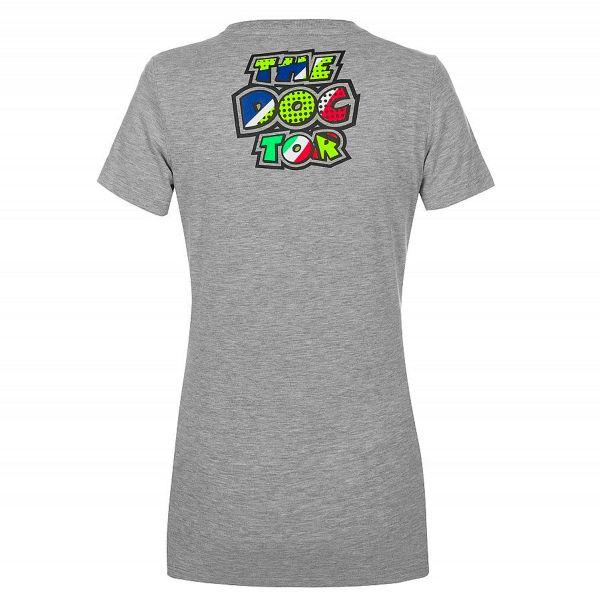 VR 46 T-Shirt Woman Classic Pop Art Grey
