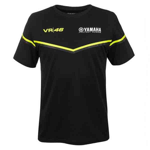 T-Shirts Moto VR 46 T-Shirt Yamaha VR46 Noir