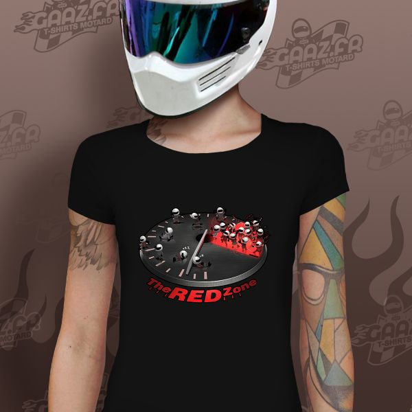 T-Shirts Moto Gaaz The Red Zone Femme (Noir)