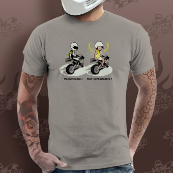 T-Shirts Moto Gaaz Verbalisable ! (Gris Clair)