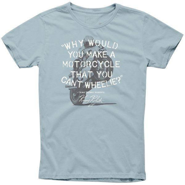 T-Shirts Moto Alpinestars Wheelie Tee Slate Blue