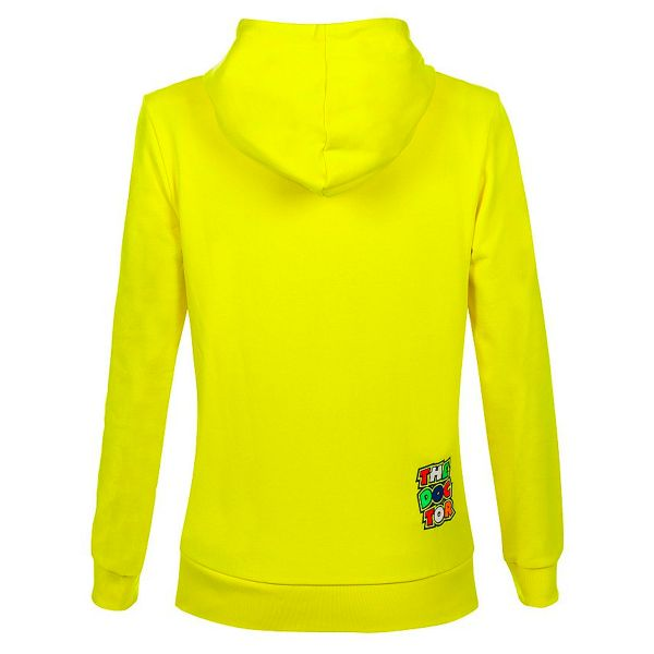 VR 46 Hoodie Woman Stripes Yellow